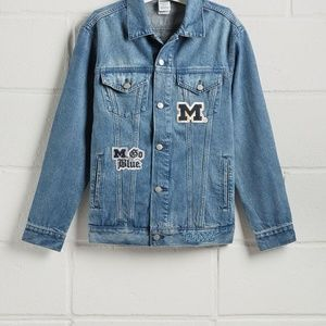 Michigan PINK denim jacket